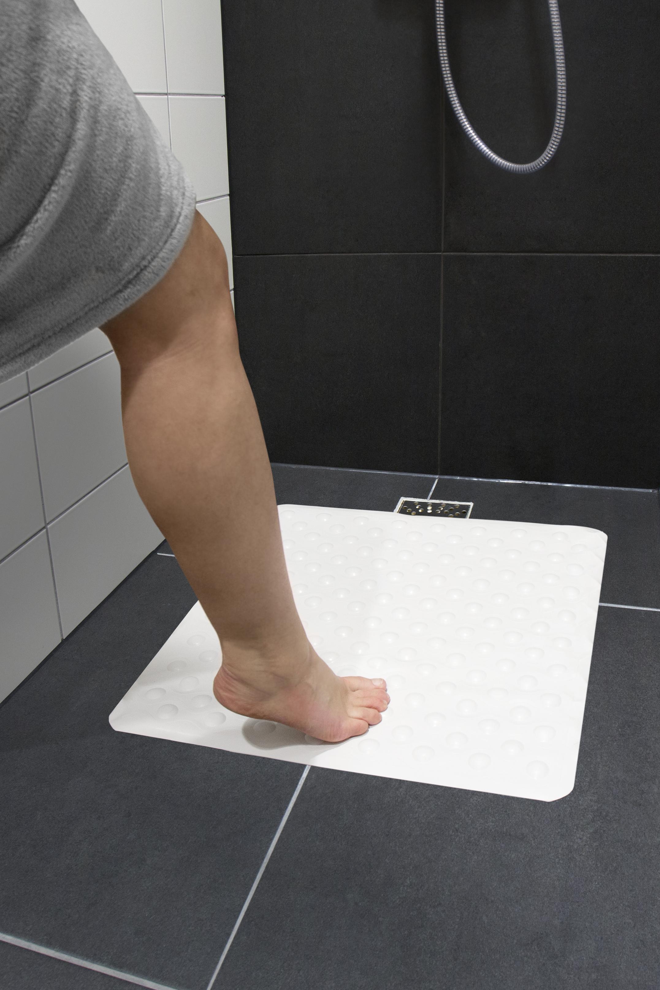 Skridsikker bademåtte til brusekabine (54x54 cm.)