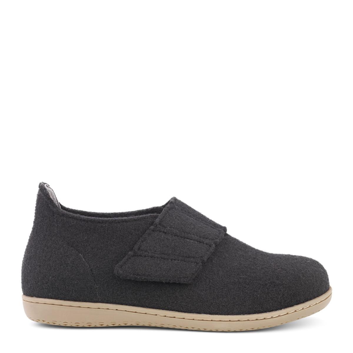 Image of   New Feet dame hjemmesko i uld med hælkappe