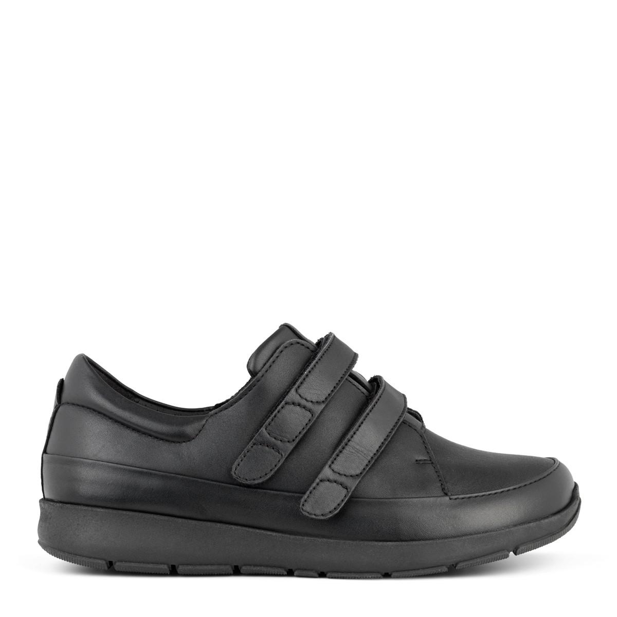 New Feet damesko i strækskind med velcrolukning