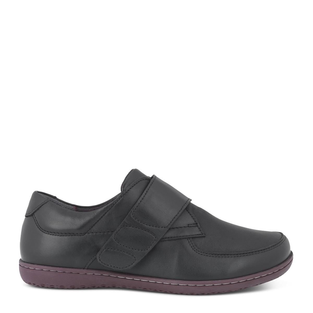 New Feet damesko i strækskind med bred velcrolukning