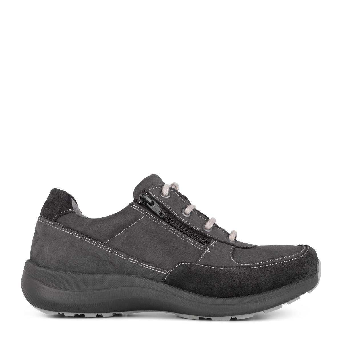 New Feet sporty damesko med lynlås og snørebånd