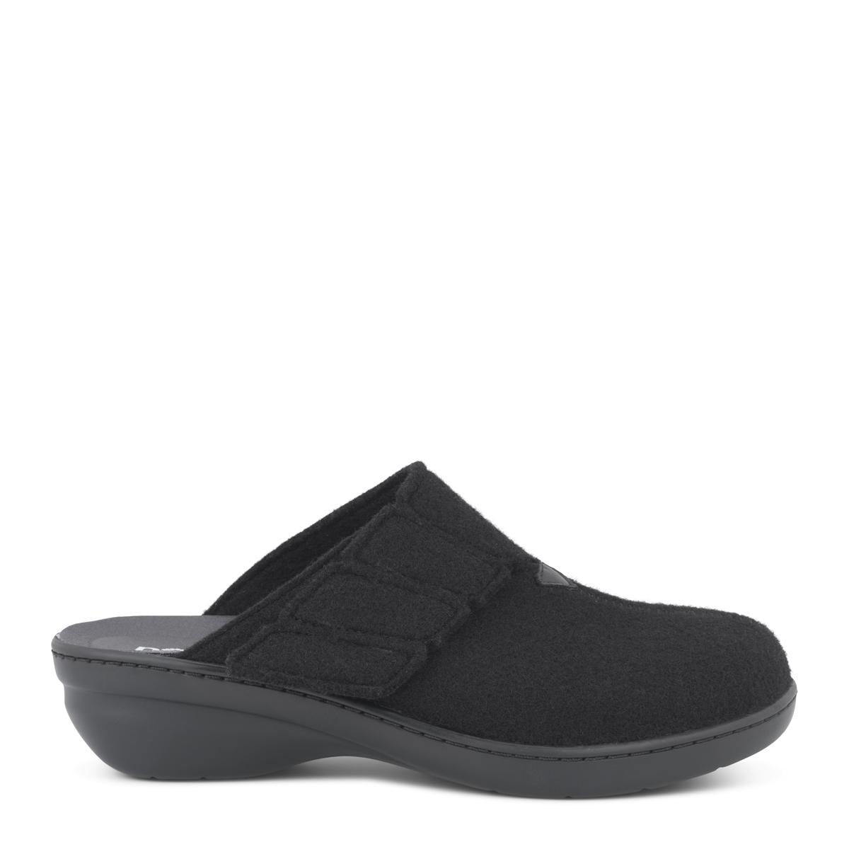 New Feet dame hjemmesko i uld med lille hæl