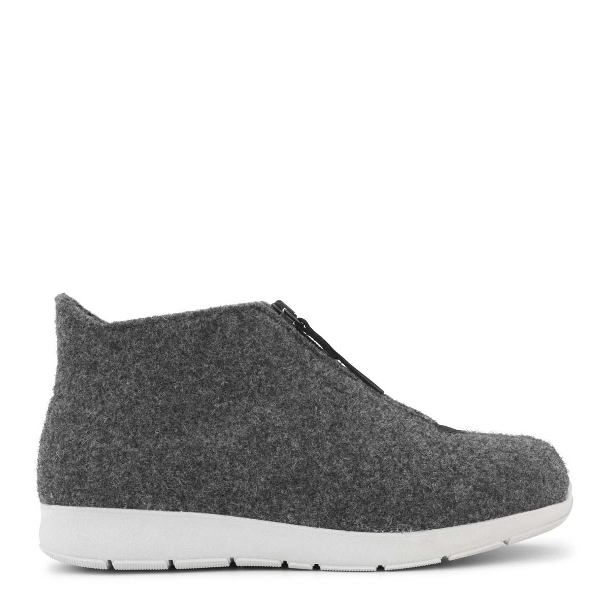 New Feet hjemmesko i uld med kort skaft (antrasith-grå) fra