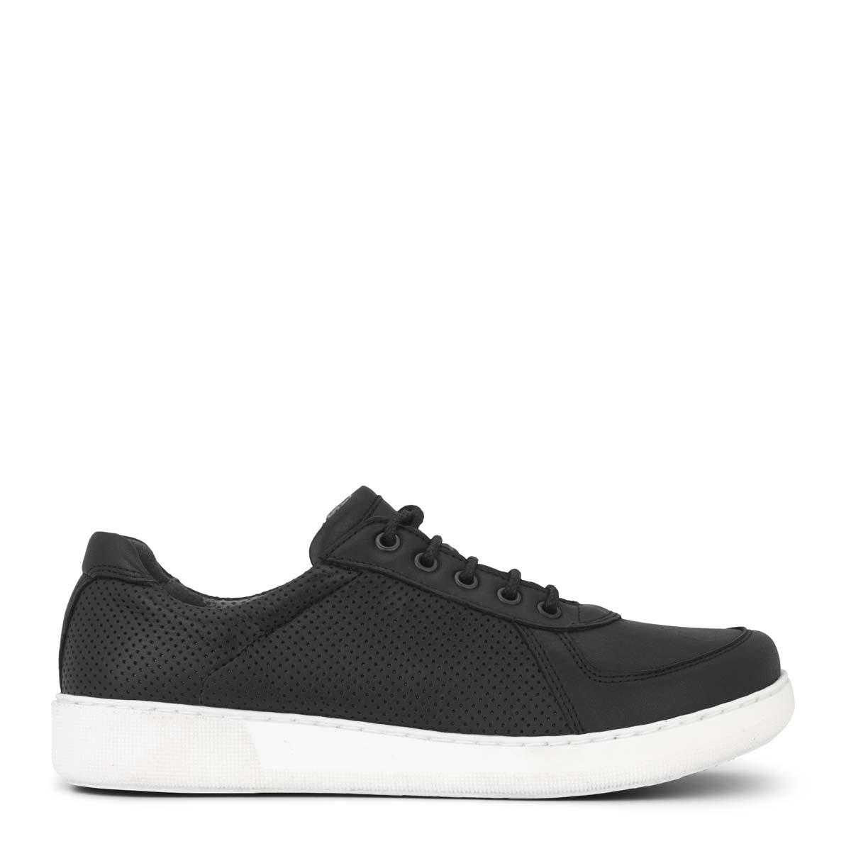 New Feet damesko i sort læder – ekstra bred fra