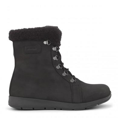 New Feet dameslipper i sort glat skind