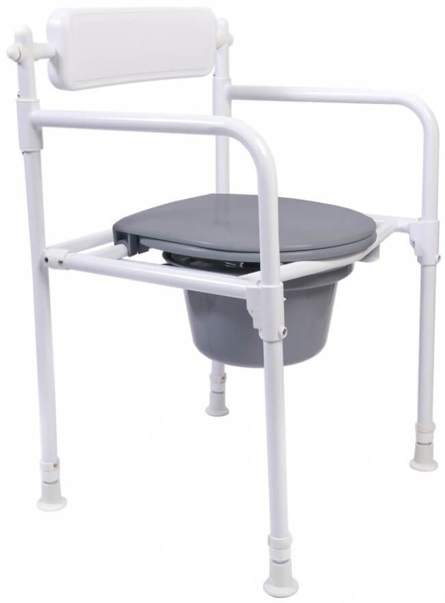 Image of   Foldbar toiletstol/bækkenstol