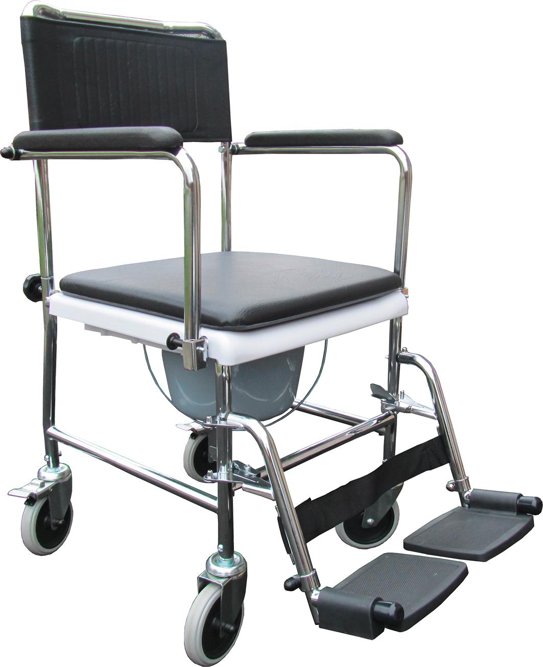 Image of   Bækkenstol/toiletstol på hjul