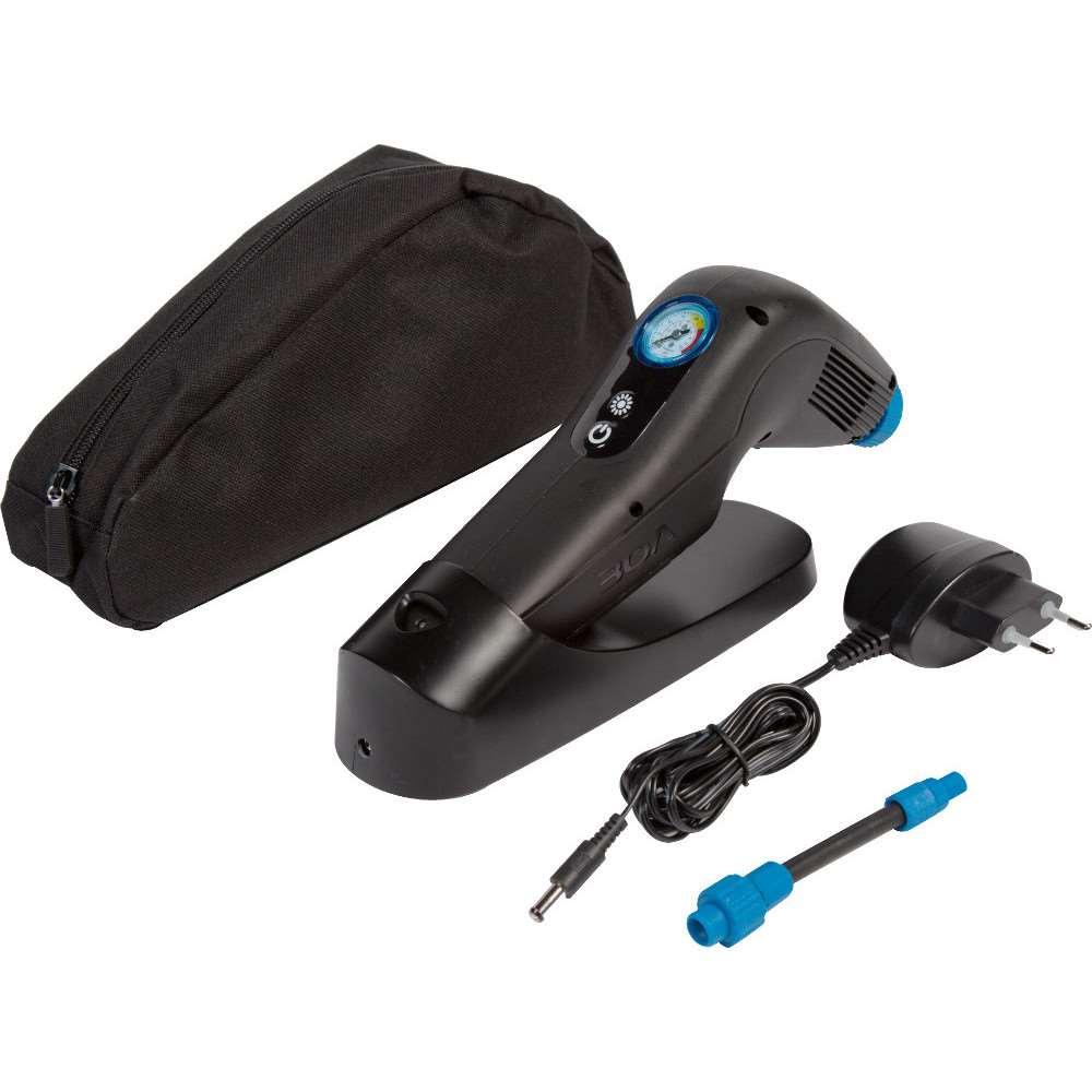 Batteridrevet pumpe til kørestolsdæk med manometer fra