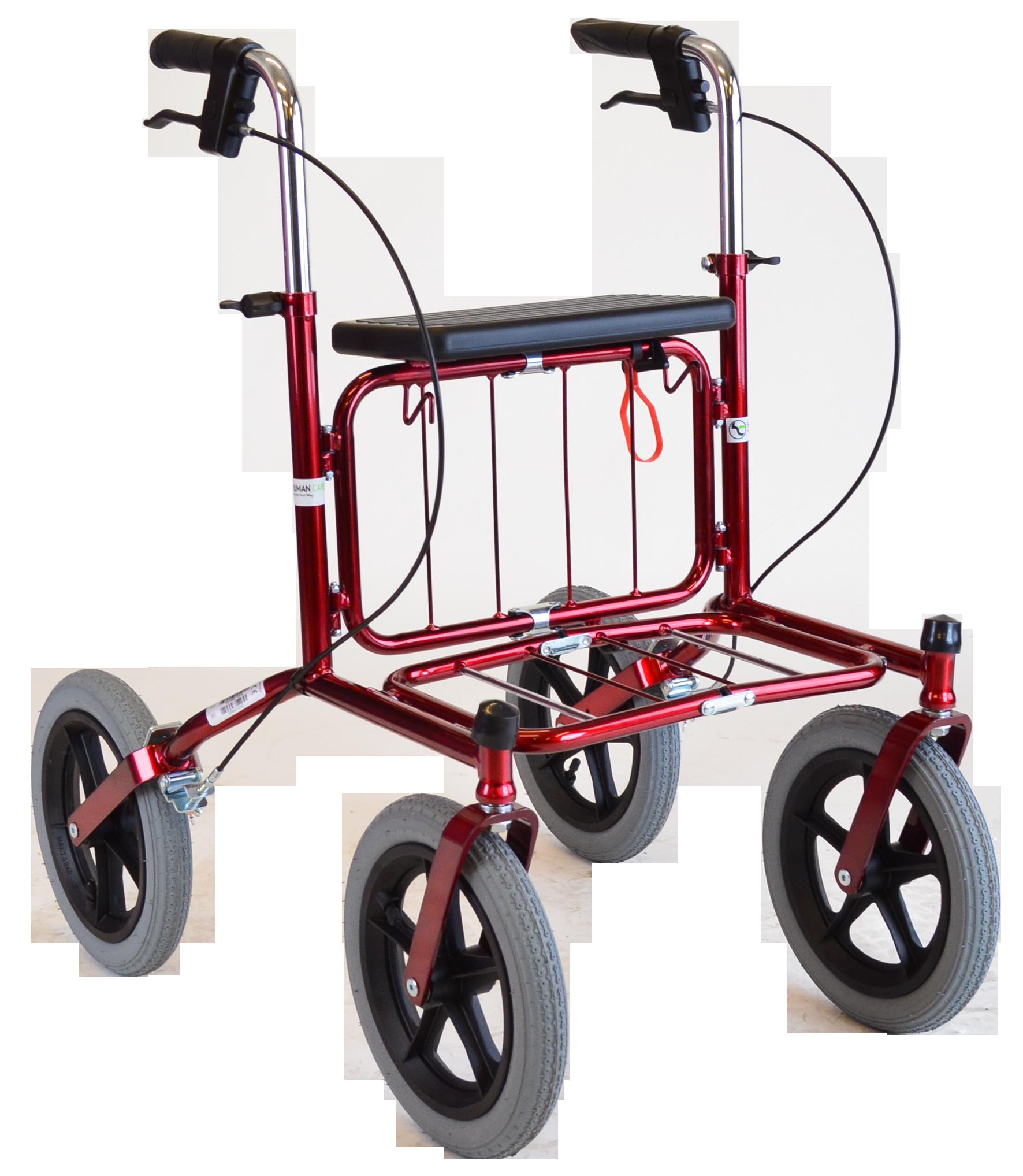 Image of   Carl Oscar - udendørs rollator med store lufthjul