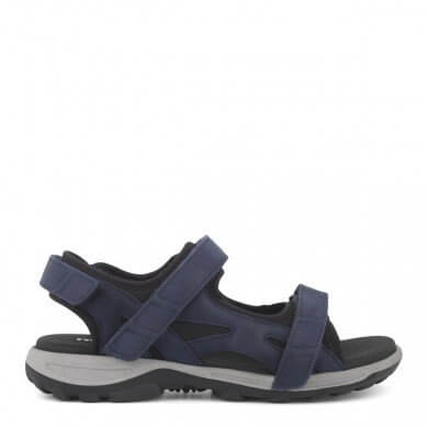 New Feet damesandal i blåt skind