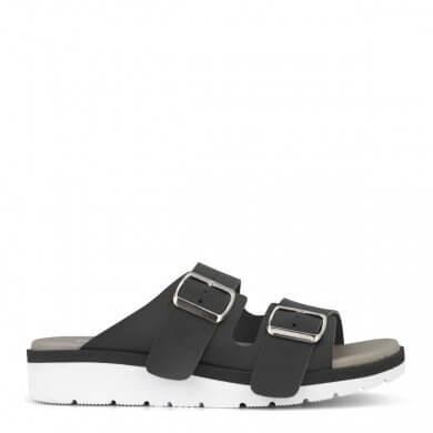 Sandal fra New Feet i sort glat kalveskind