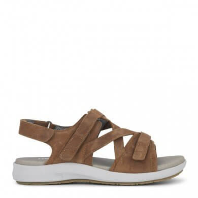 New Feet damesandal i brun skind