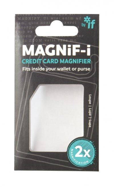 Kreditkortsforstørrelsesglasset er lavet af solid akryl
