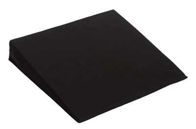 Skråpude med sort betræk (37x37x7)
