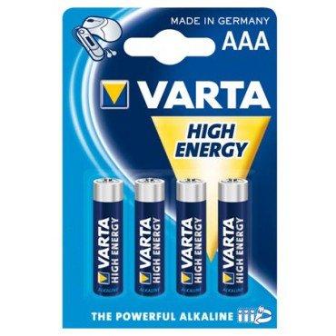 4 stk. AAA-batterier
