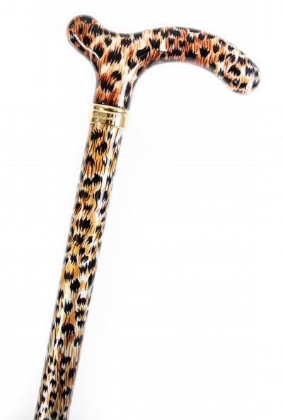 Stokke med gepard mønster, derby-greb, billig
