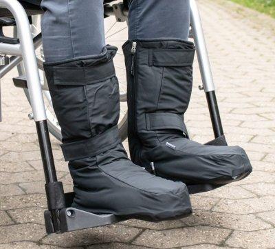 Varme støvler til kørestolsbrugere