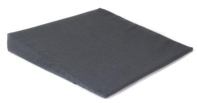 Skråpude, 45 x 45 x 10 cm, m/gråt bomuldsbetræk
