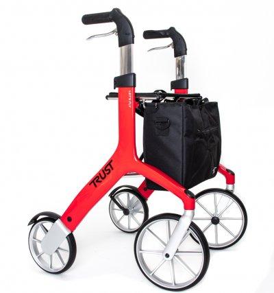 Elegangt rollator med taske