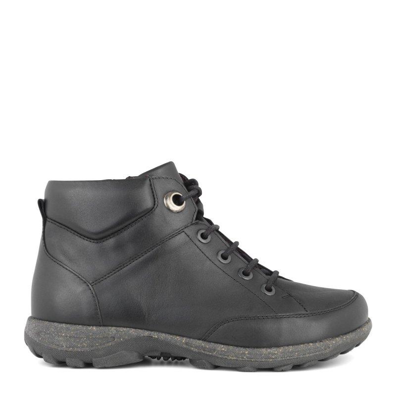 New Feet damestøvle i strækskind med snørrebånd og lynlås ekstra bred