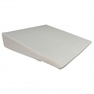 Skråpude, 45 x 45 x 6 cm, m/sandfarvet bomuldsbetræk
