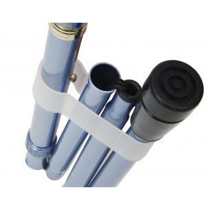 Clips til foldbare eller sammenklappelige stokke