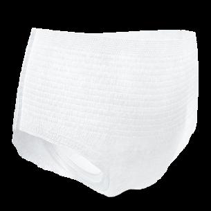 Tena Pants Plus, bukseble til herre og dame, vist i pakken