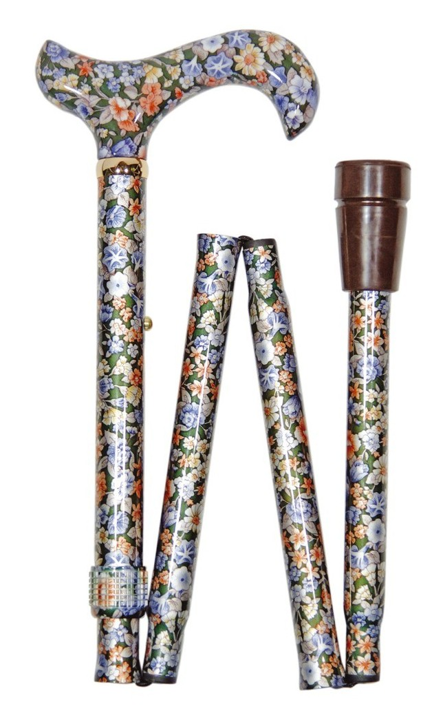 Image of   Foldbar stok, derby-greb, højdejusterbar, mønstret