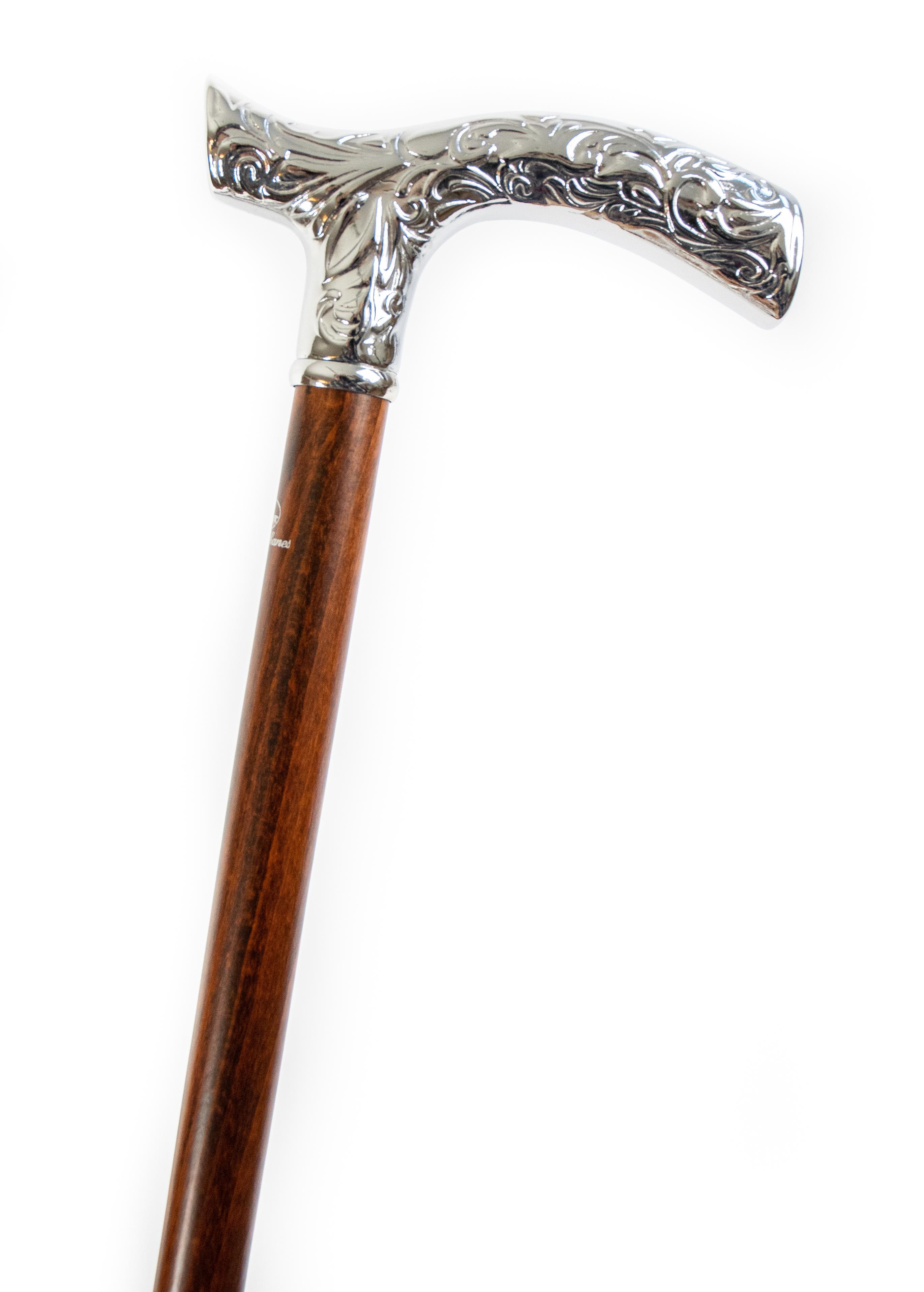 Image of   Elegant stok med forkromet håndtag