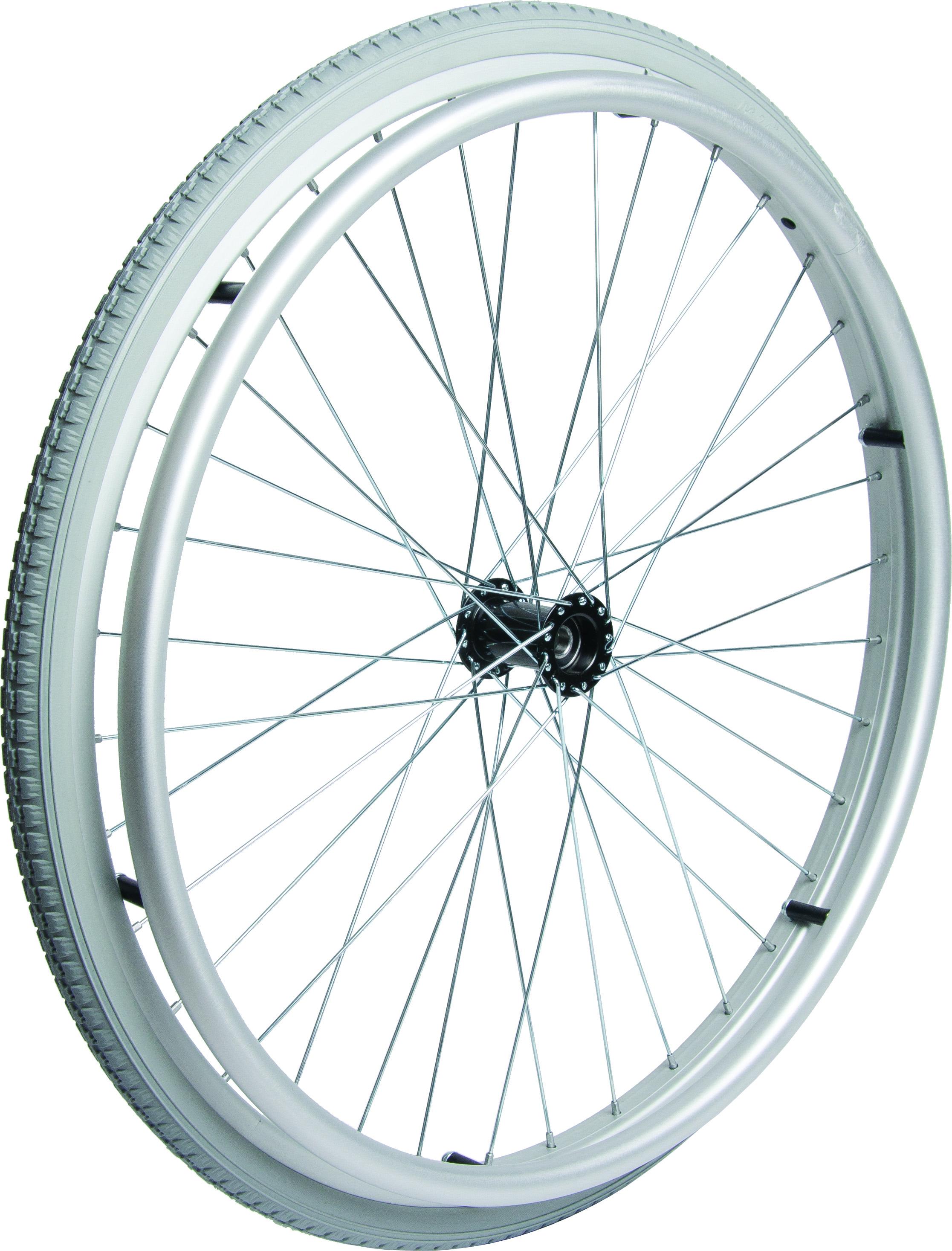 Komplet baghjul med dæk og drivring (22