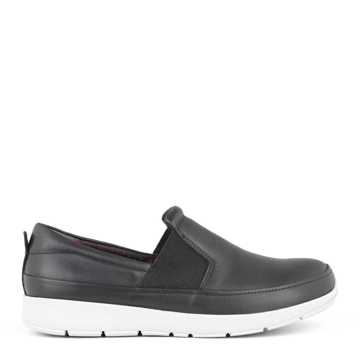 New Feet dame loafer i sort skind