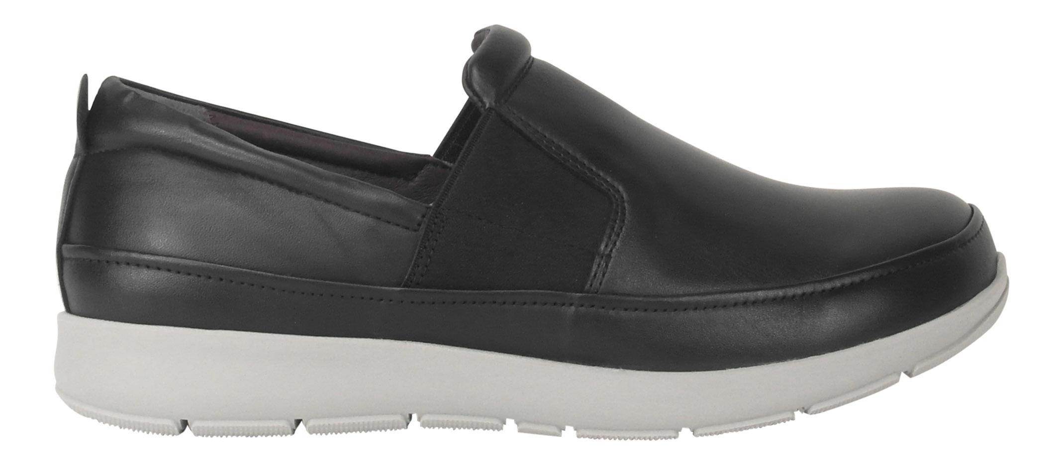 Image of   New Feet dame loafer i sort skind