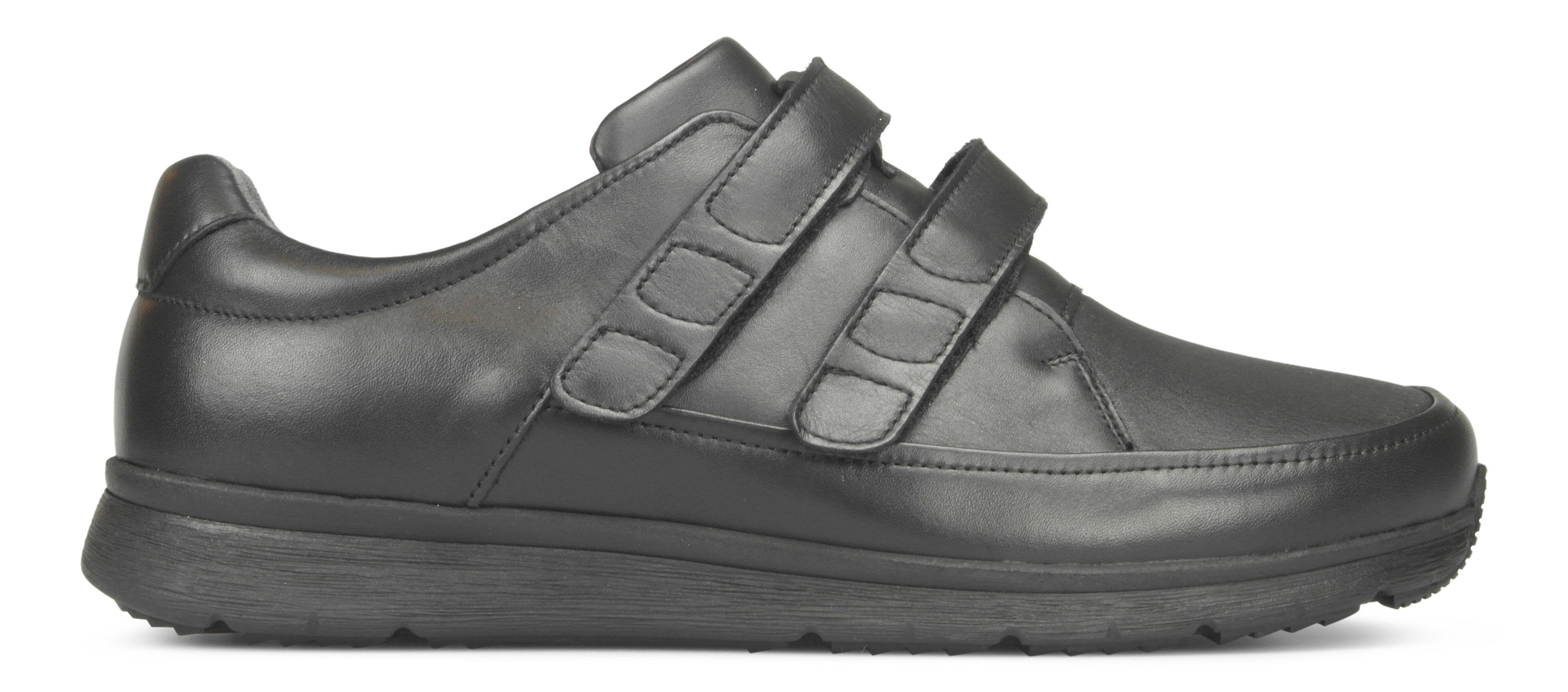 Image of   New Feet herresko i strækskind og med velcrolukning