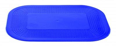 Bordmåtte, blå, skridsikker på begge sider, rektangulær, kan fx bruges som underlag til skærebræt