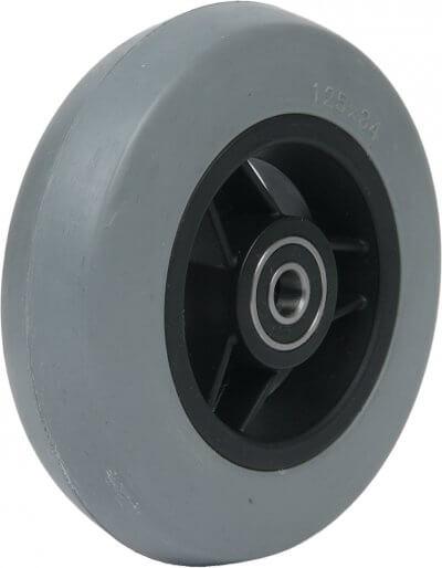 """5"""" gummibanehjul inkl. afstandsbøsninger (125x34)"""