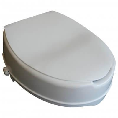 Denne toiletforhøjer passer til almindelige toiletter