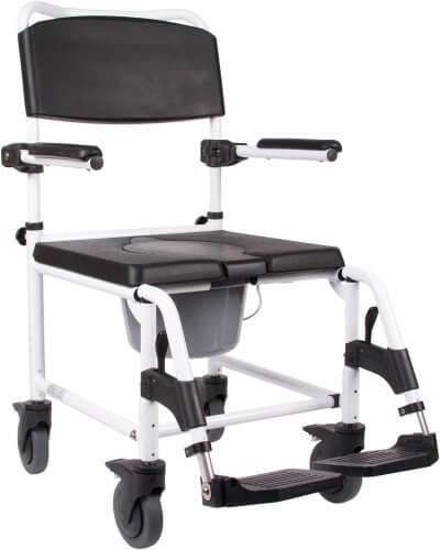 God toiletstol med hjul - kan også bruges som badestol