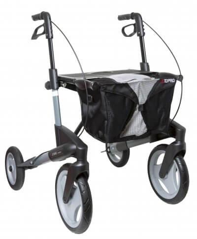 Topro Olympos har store hjul, som er særligt gode til udendørs brug