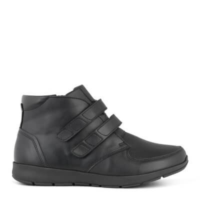 New Feet damestøvle i strækskind med velcrolukning
