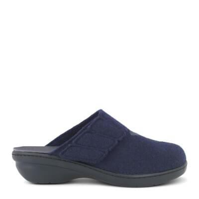 New Feet dame hjemmesko i uld med lille hæl og uden hælkappe