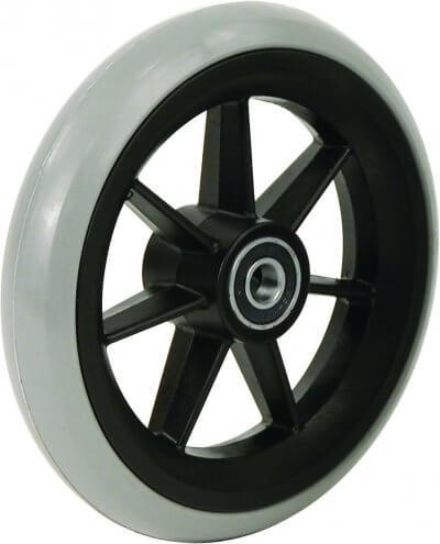 """5"""" gummibanehjul inkl. afstandsbøsninger (125x26)"""