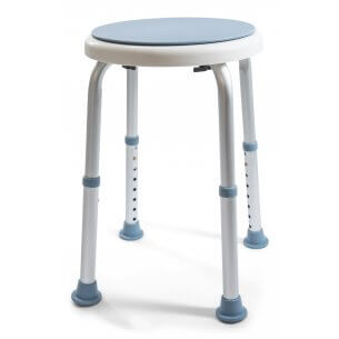 Sædet kan dreje rundt mens man sidder på det