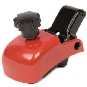 Slæbebremse til rollator, modstanden justeres på det lille håndtag