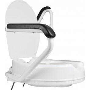 Toiletforhøjer med armlæn/støttegreb
