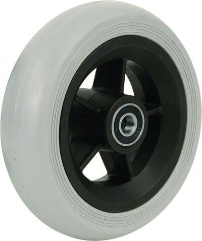 """5,5"""" gummibanehjul inkl. afstandsbøsninger (140x40)"""