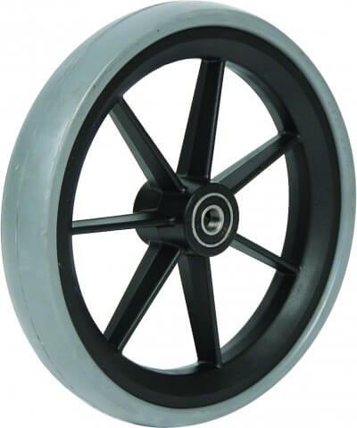 """7"""" gummibanehjul inkl. afstandsbøsninger (175x33)"""