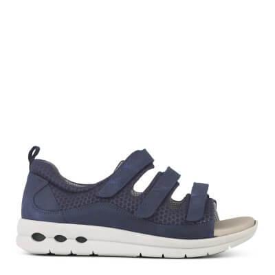New Feet damesandal i blå med lukket hælkappe