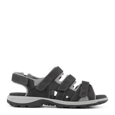 New Feet herresandal med velcroremme - ekstra bred