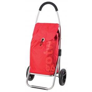 Elegant indkøbstrolley i rød