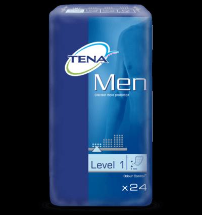 Tena, voksenble til mænd, level 1, vist i pakken